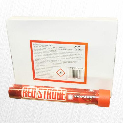 Flary stadionowe stroboskopowa czerwona TXF239-1 Triplex 1szt
