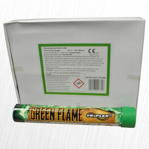 Flary stadionowe Green Flame zielona TXF375-3 Triplex 1szt